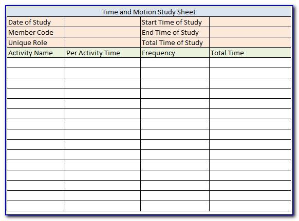 Time And Motion Study Meaning With Example