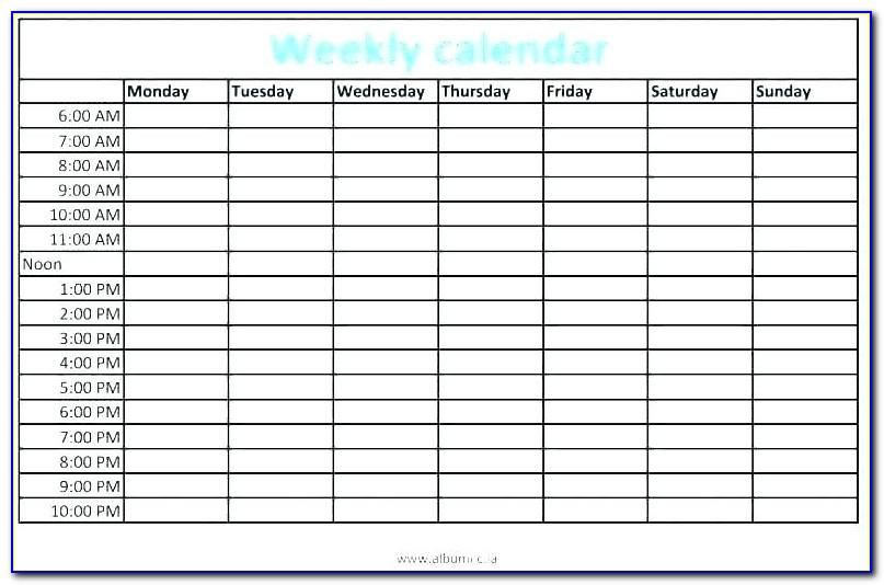 Time Management Schedule Template Excel