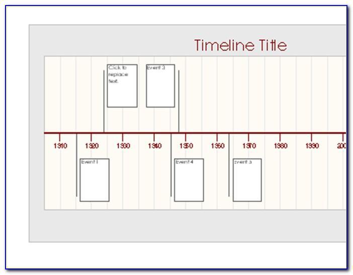 Timeline Calendar Template Word