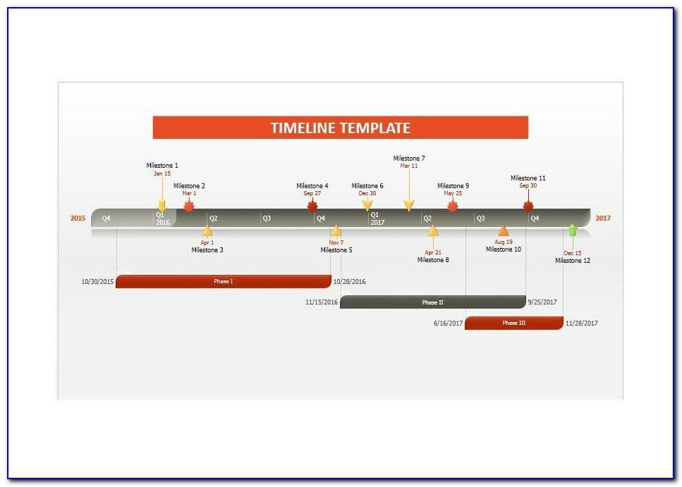 Timeline Plan Template Excel