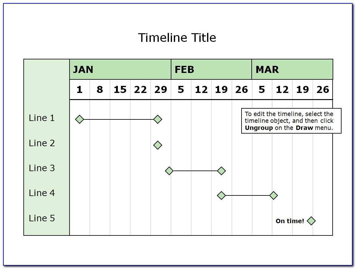 Timeline Roadmap Template Free