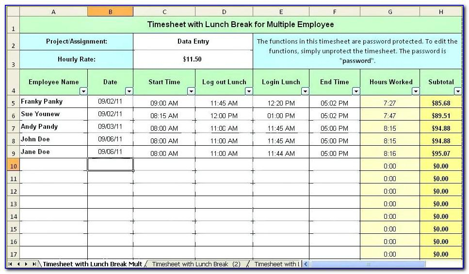 Timesheet Template For Mac Numbers