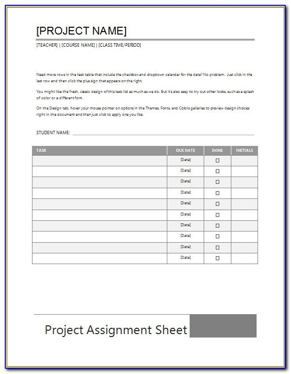 To Do List Excel Spreadsheet Template