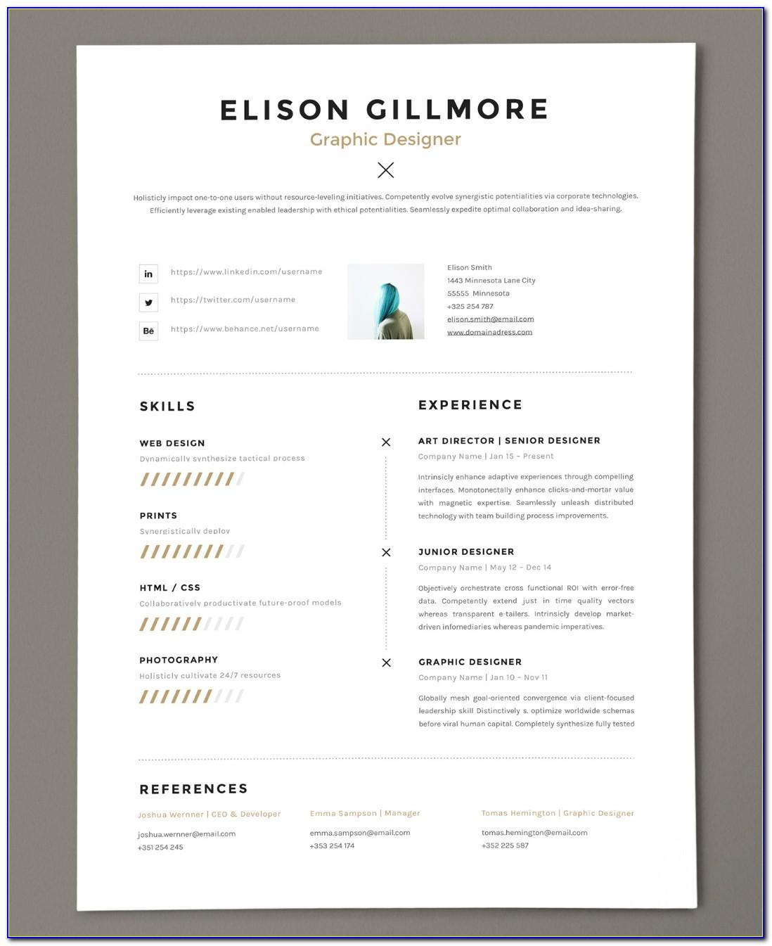 Top Free Resume Templates 2017