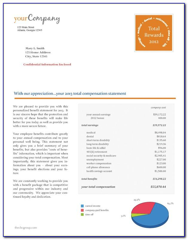 Total Compensation Statement Template Download