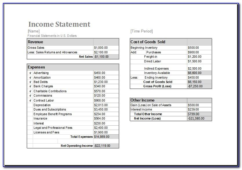 Total Pay Statement Template