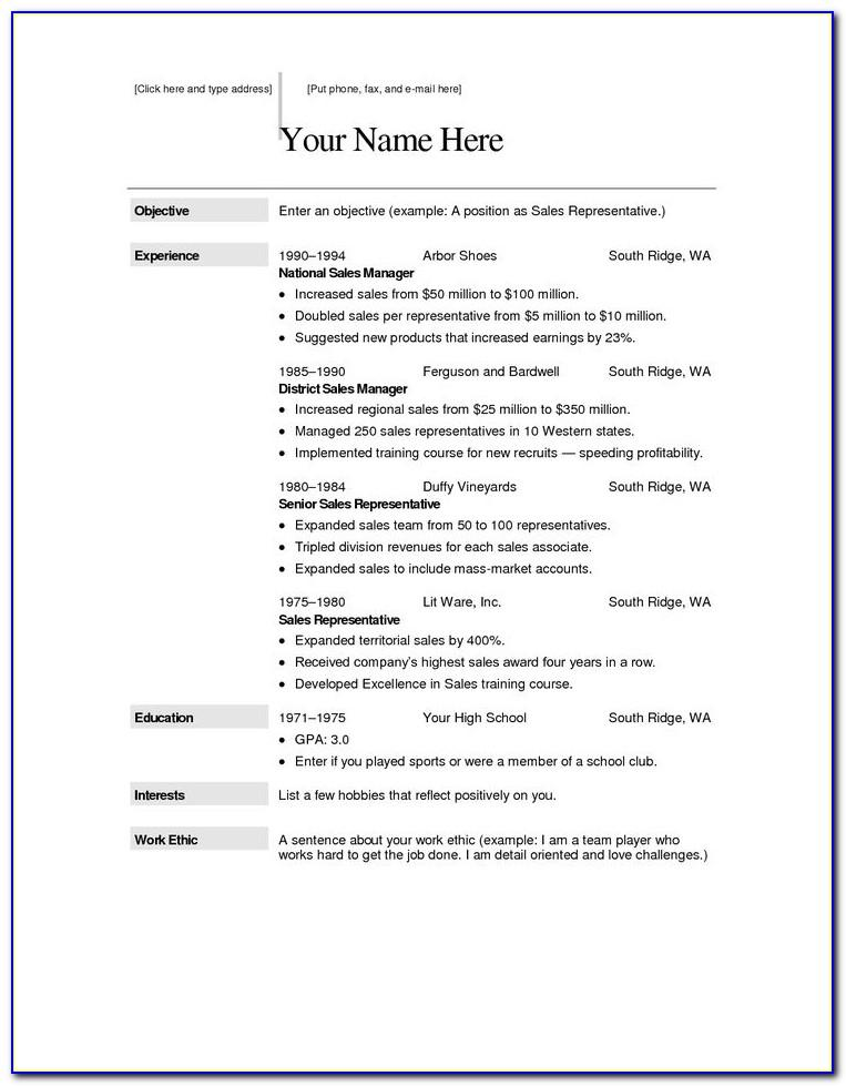 Totally Free Resume Samples