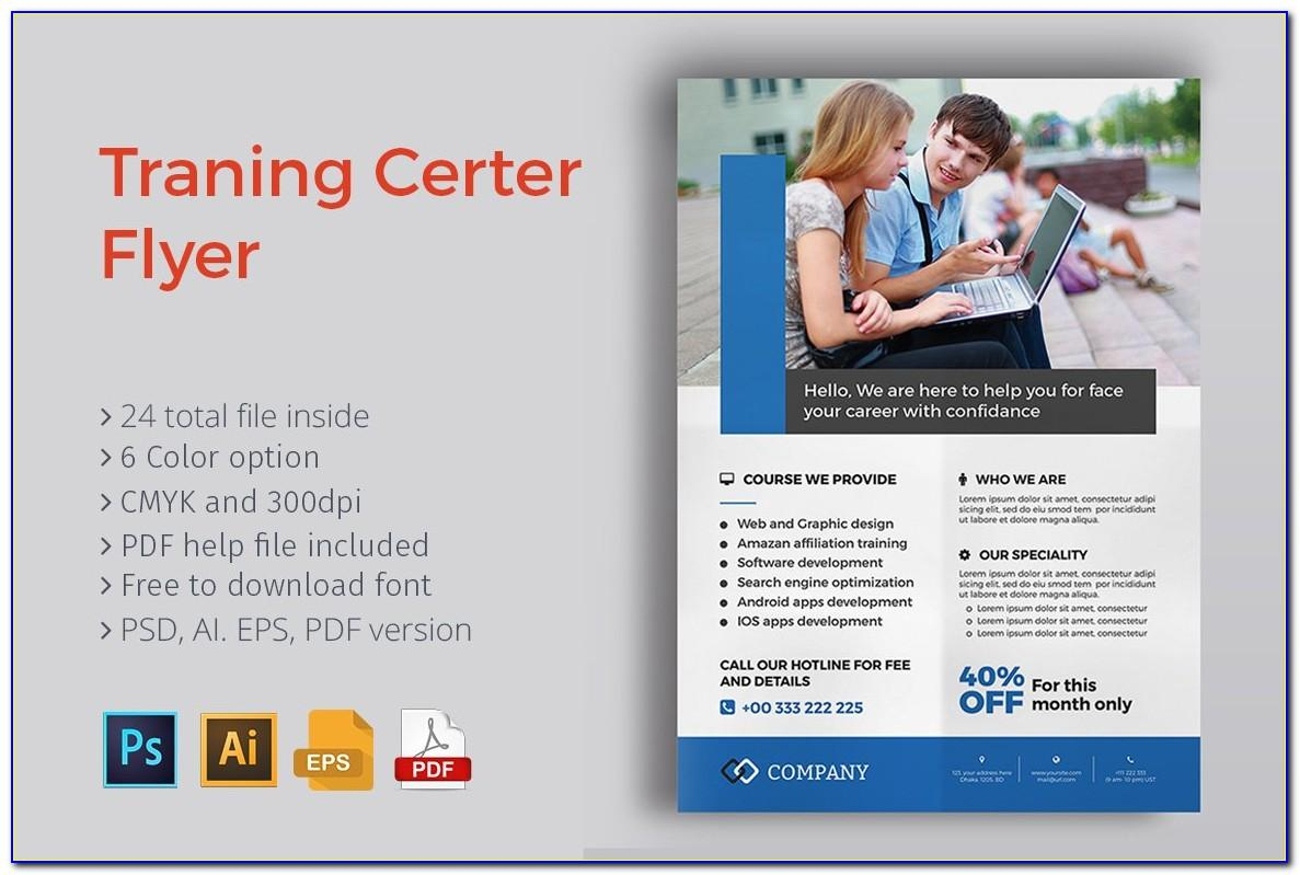 Training Course Brochure Template Free