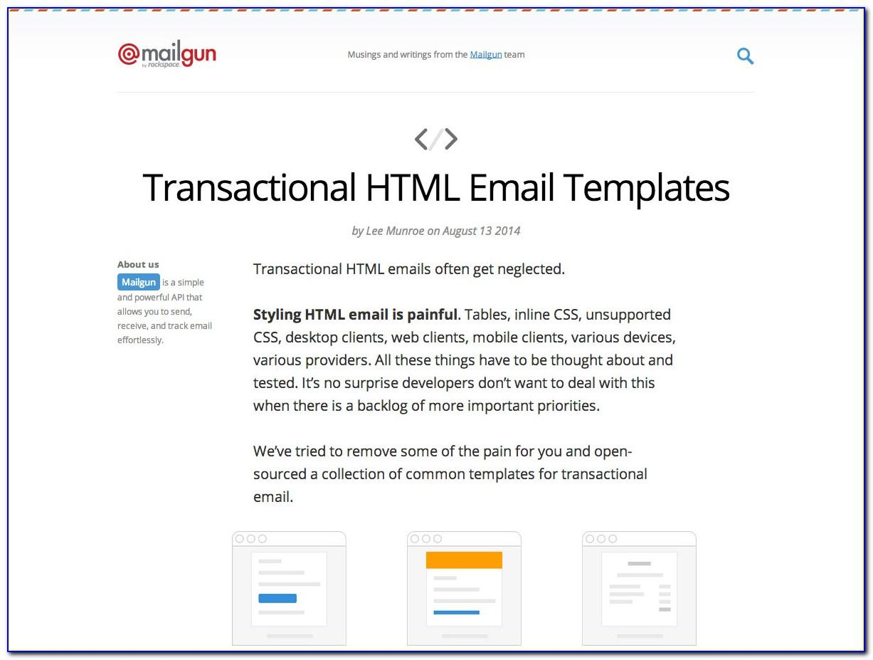 Transactional Email Templates Master