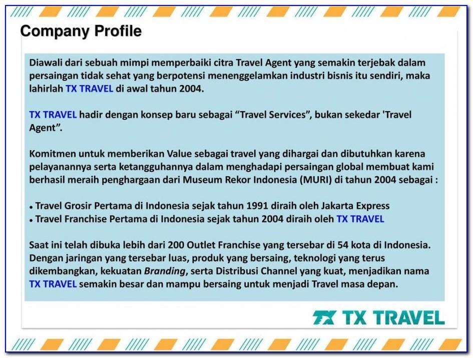 Travel Agency Company Profile Example