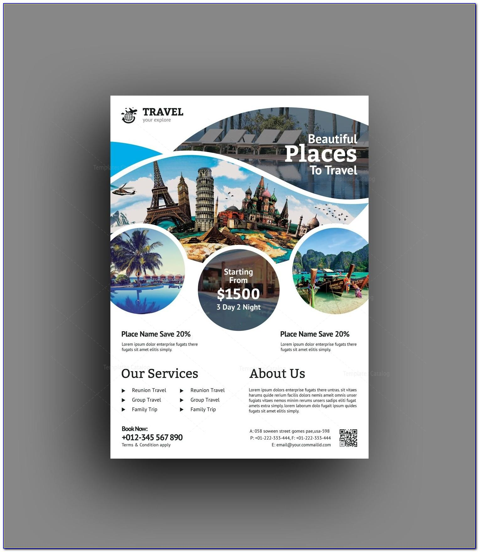 Travel Agency Flyer Template Psd