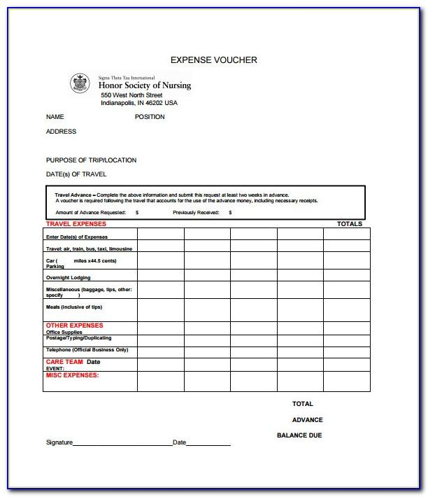 Travel Expense Sheet Template Excel
