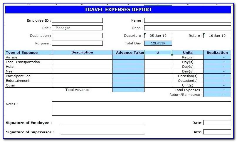 Travel Expenses Policy Template