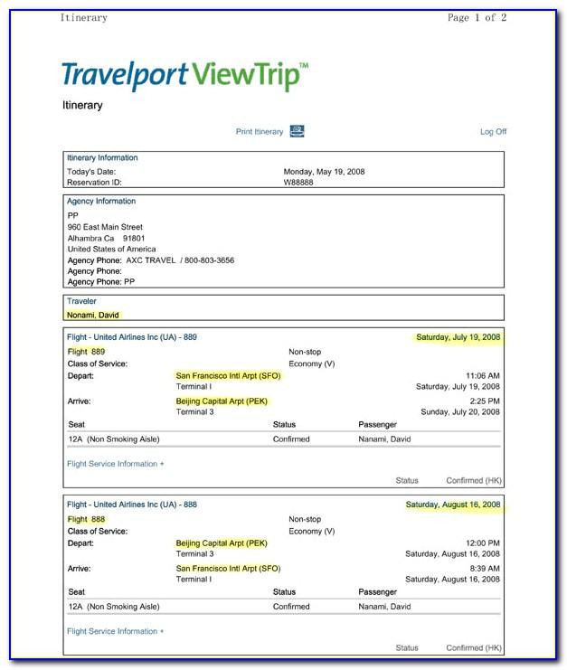 Travel Itinerary Template Mac Pages