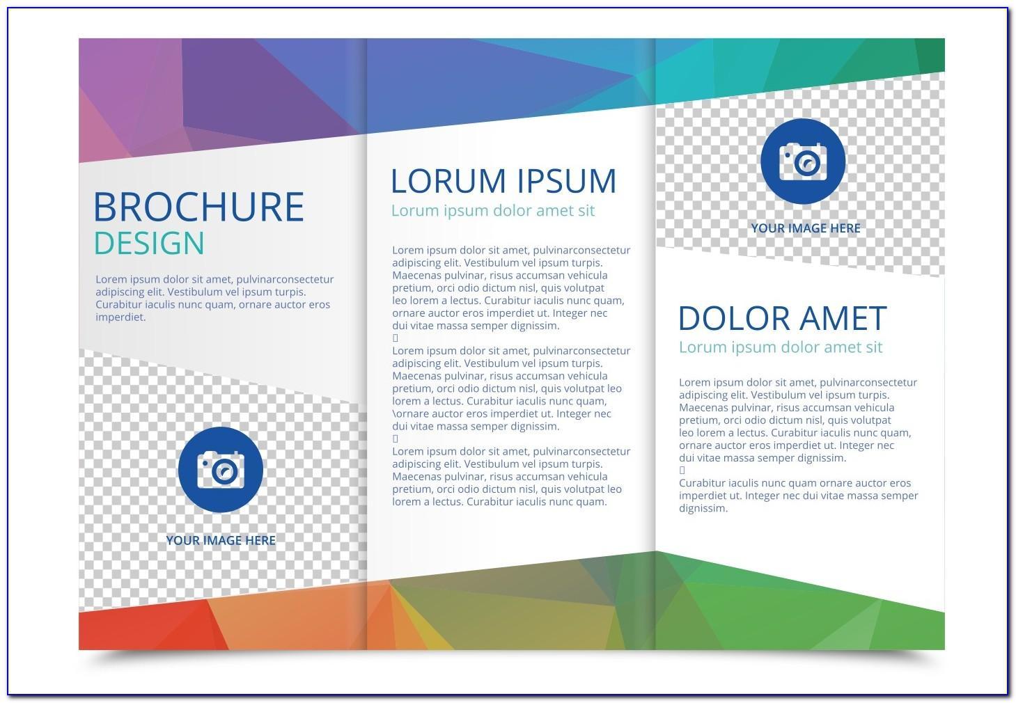 Tri Fold Brochure Free Psd Mockup