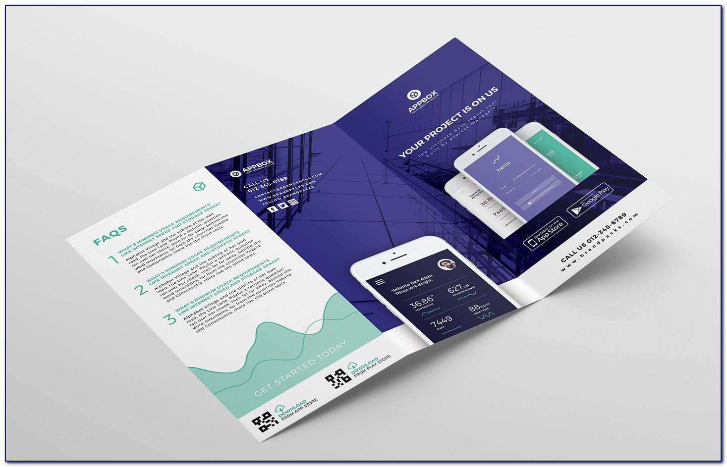 Tri Fold Brochure Template Free Download Photoshop