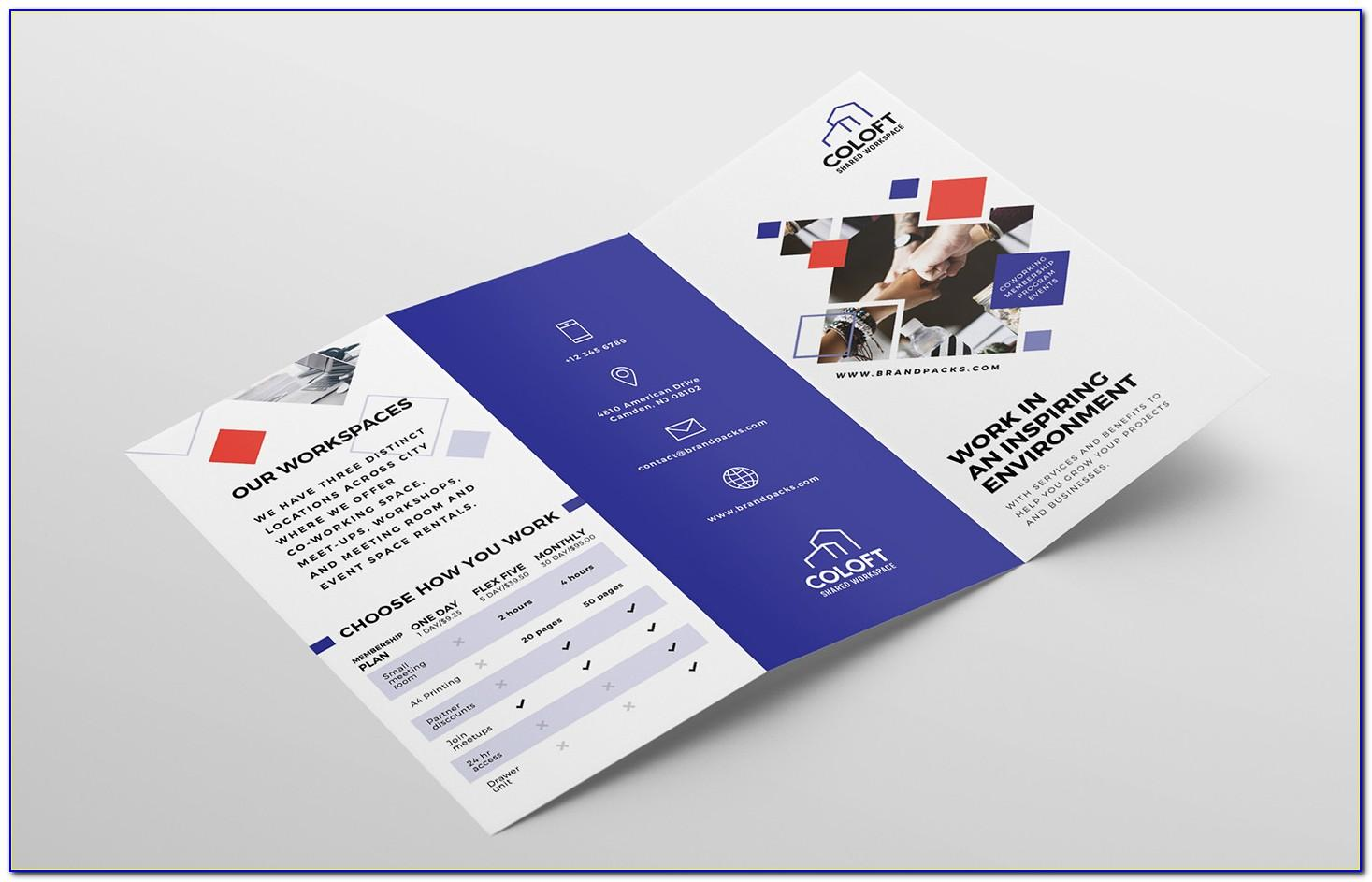 Tri Fold Brochure Template Free Download Word