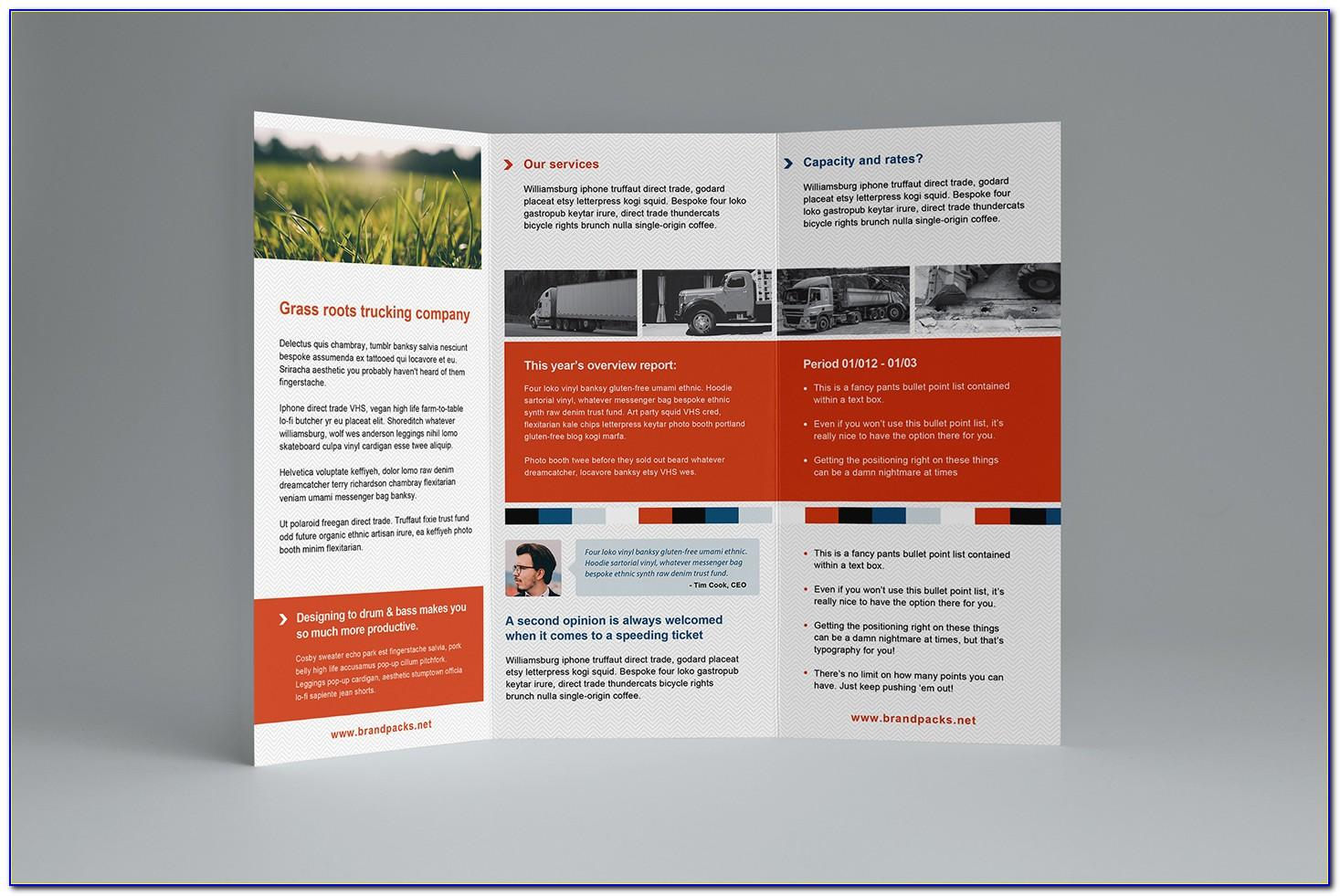 Tri Fold Brochure Template Illustrator Download