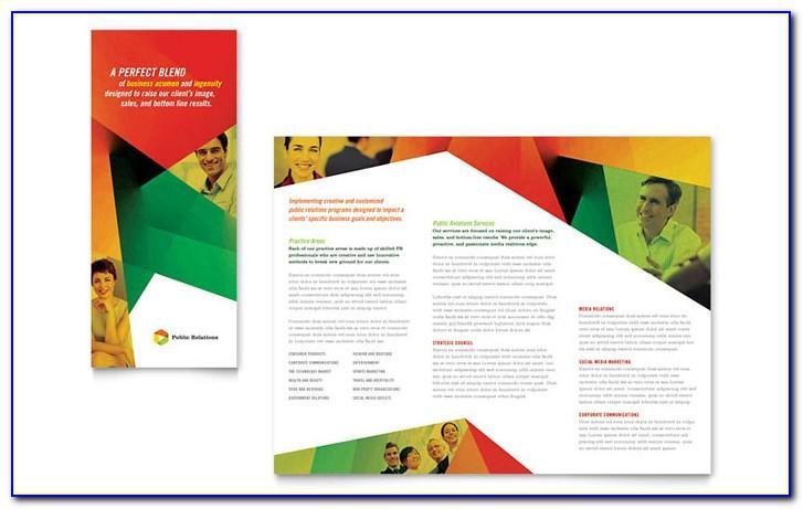 Tri Fold Brochure Template Publisher 2010