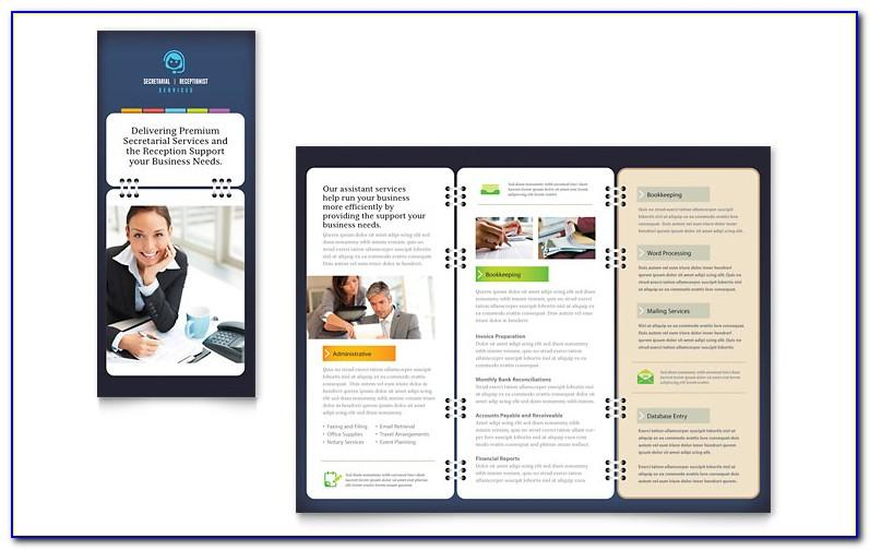 Tri Fold Brochure Templates Publisher Free Download
