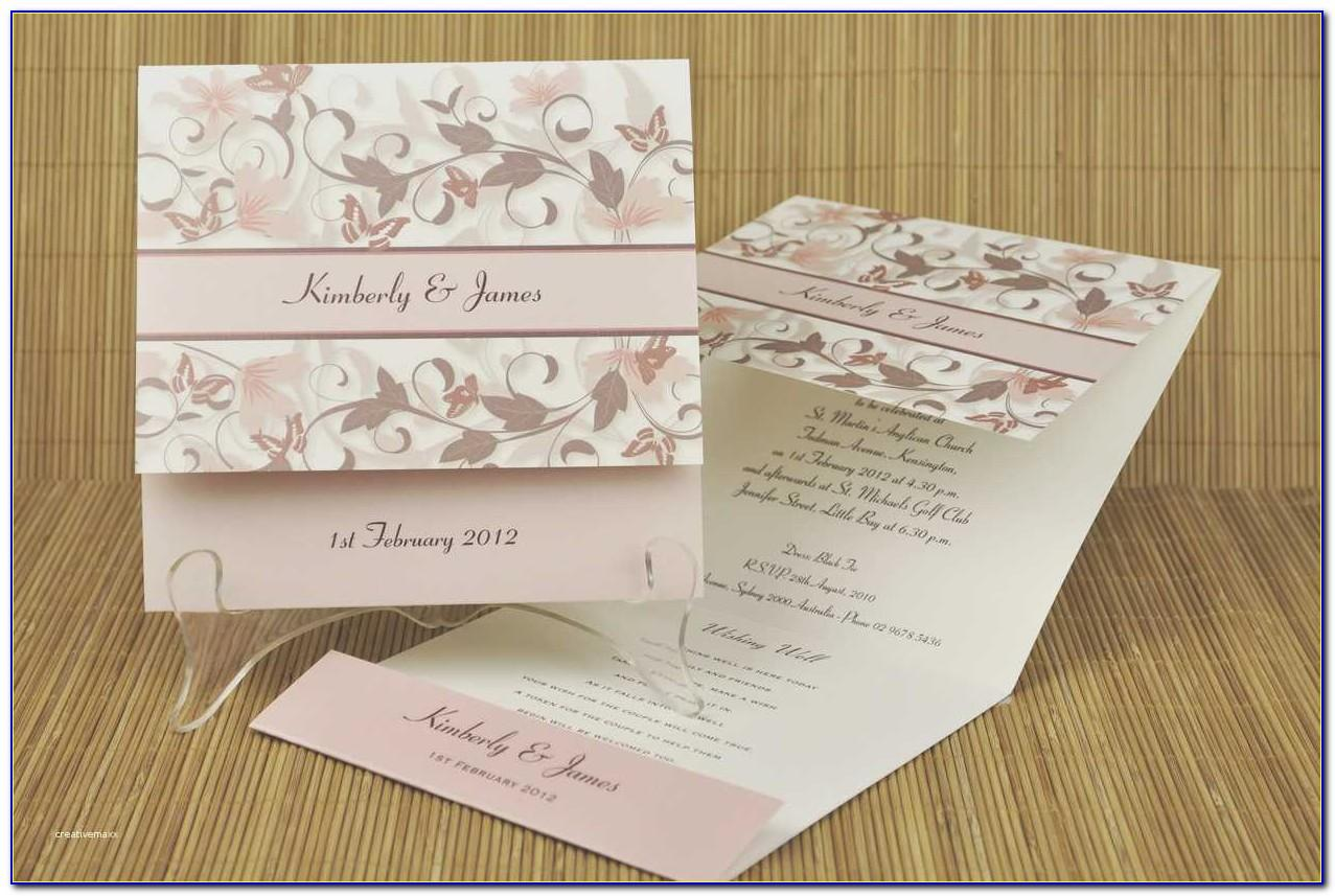 Tri Fold Wedding Invitation Wording
