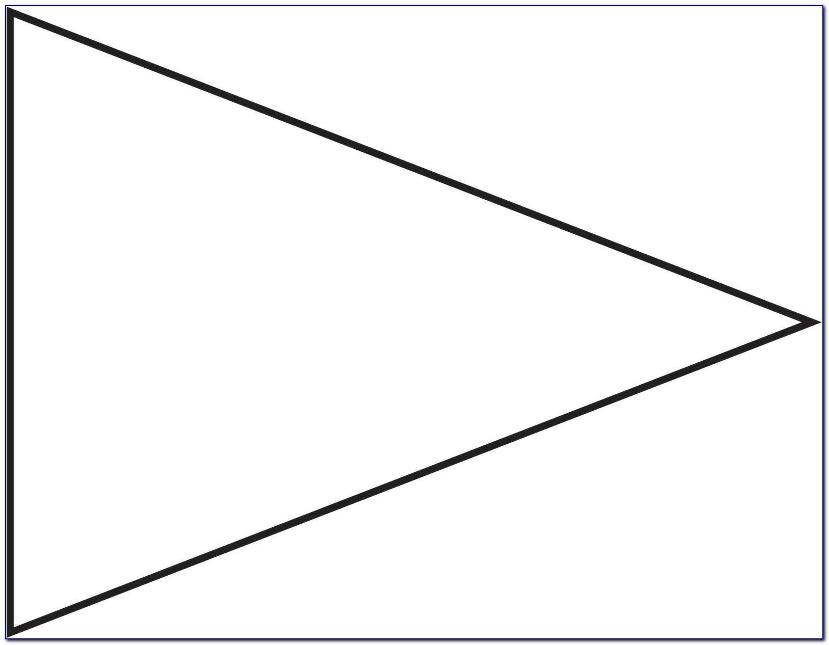 Triangle Flag Banner Template Free