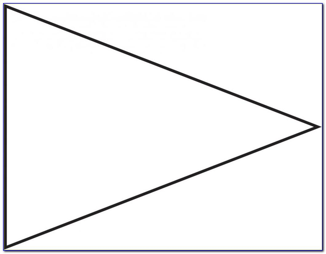 Triangle Flag Banner Template