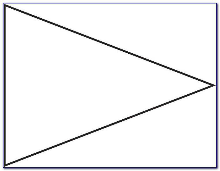 Triangle Pennant Banner Template