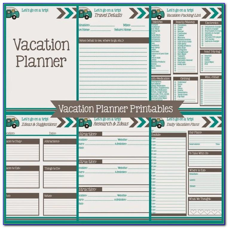 Trip Planning Calendar Template