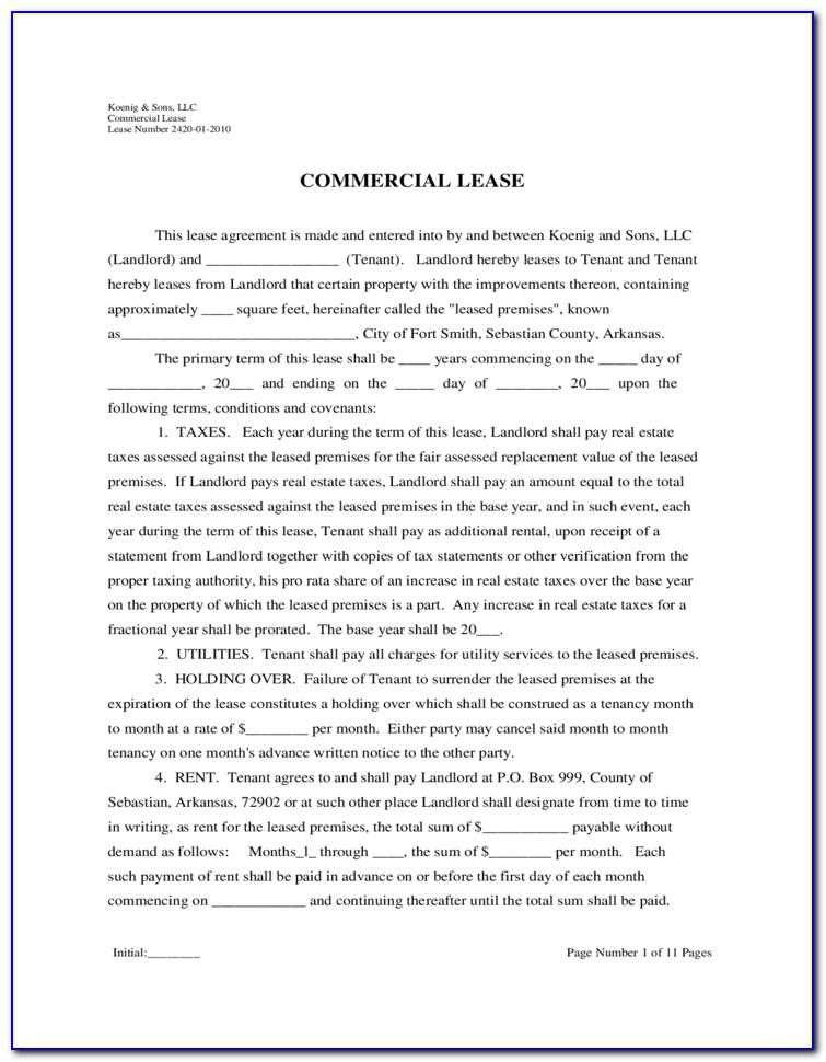 Triple Net Lease Form Az