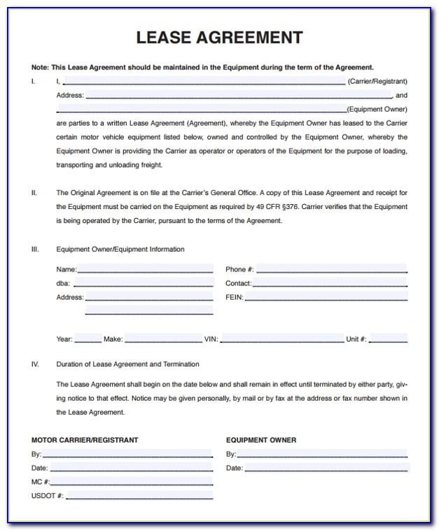 Truck Lease Purchase Agreement Form