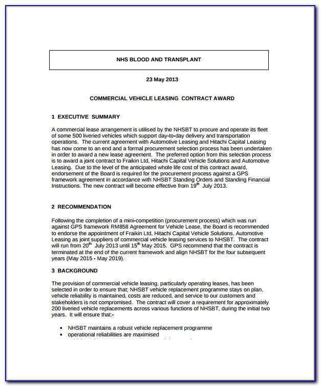 Truck Lease To Own Agreement Form