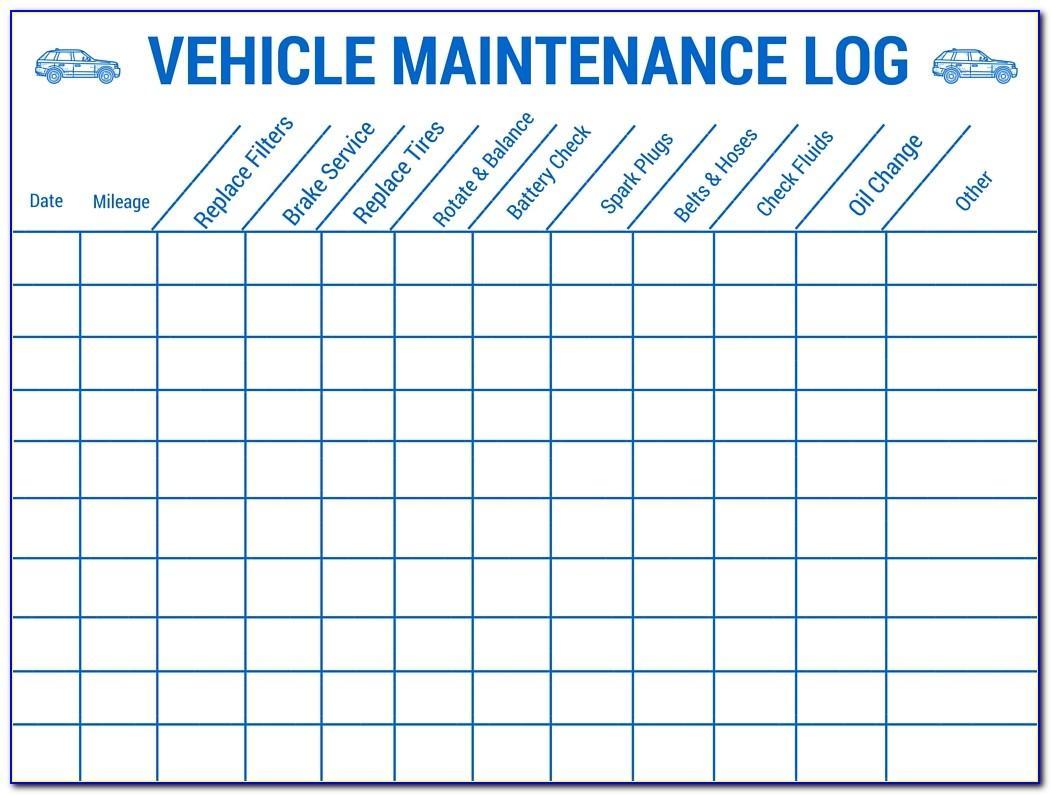Truck Maintenance Plan Template