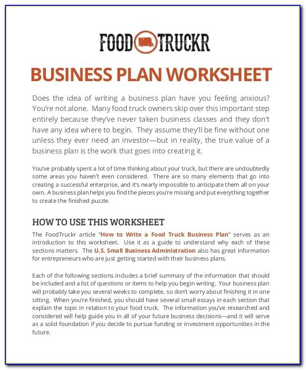 Trucking Business Plan Example