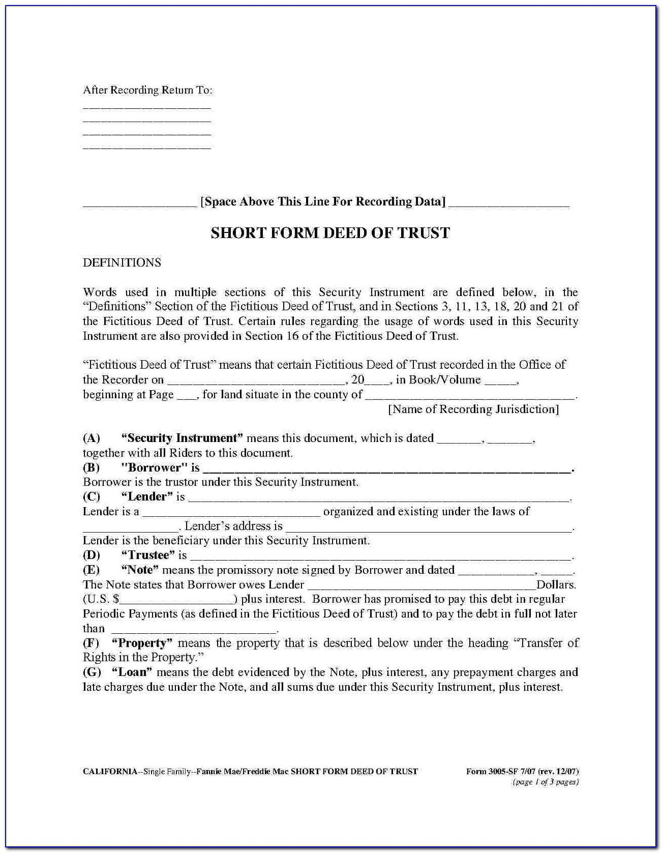 Trust Deed Document South Africa