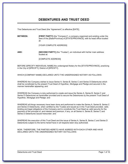 Trust Deed Template South Africa