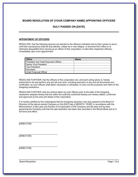 Trustee Resignation Letter Template South Africa