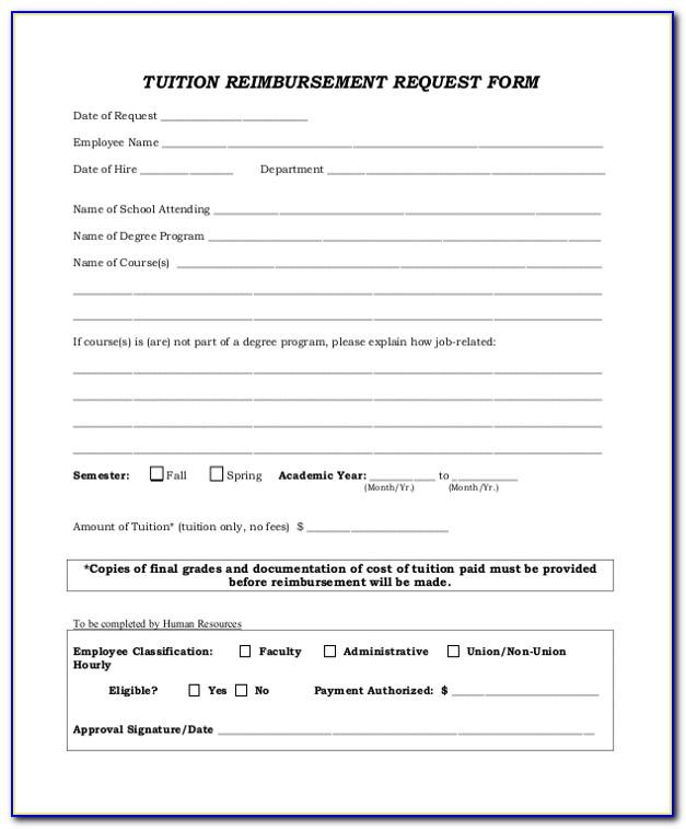 Tuition Reimbursement Agreement Template