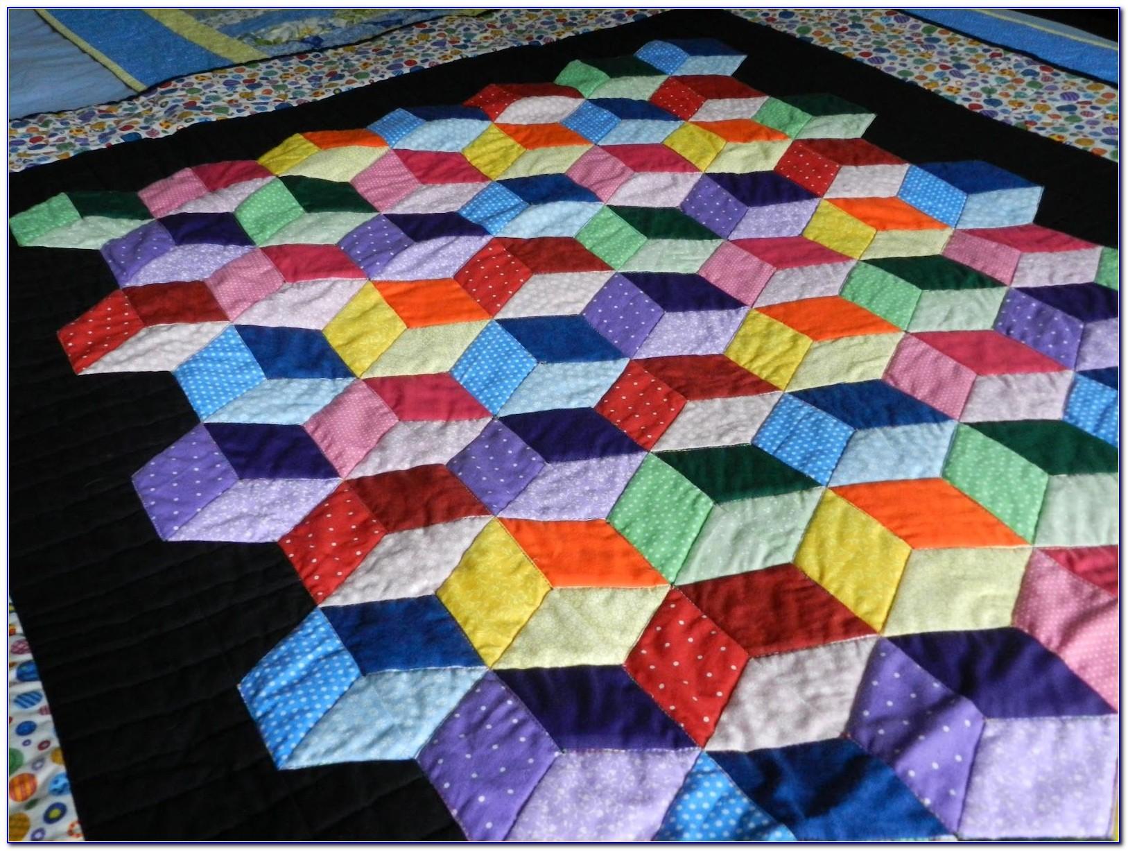 Tumbling Blocks Quilt Patterns