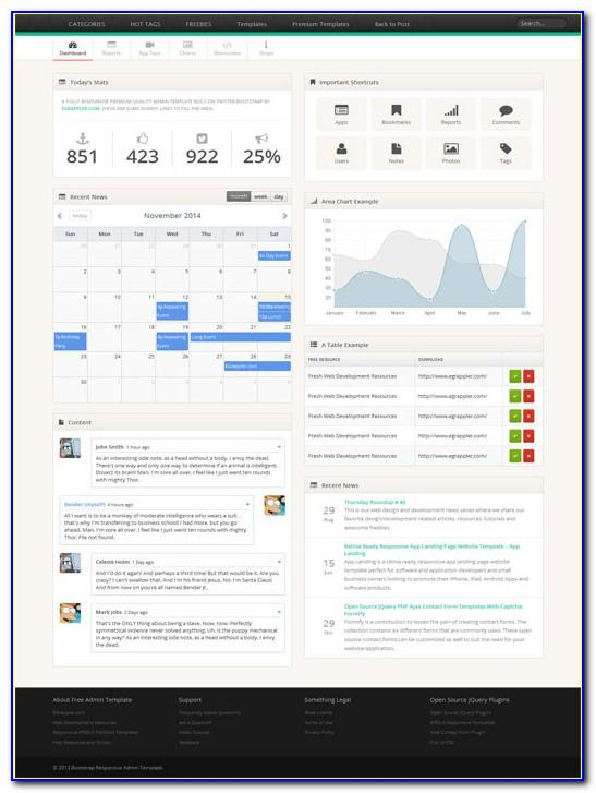 Twitter Bootstrap Template Free Download