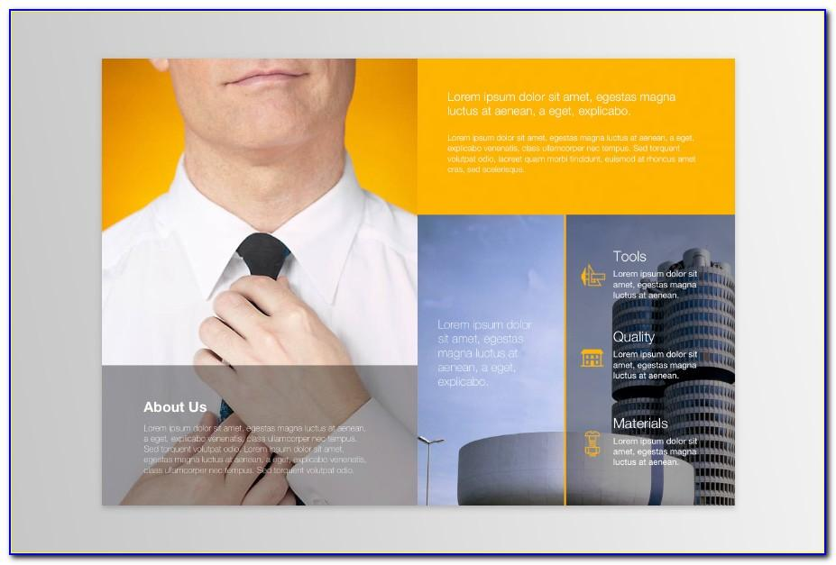 Two Fold Brochure Photoshop Template