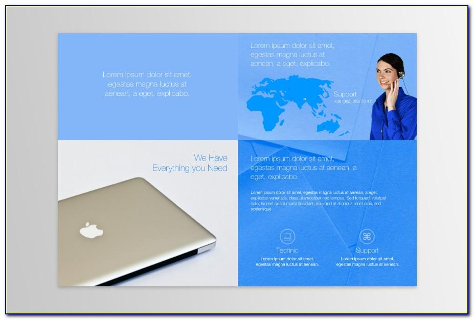 Two Fold Brochure Template Free Word