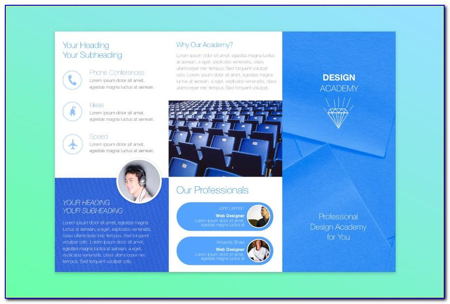 Two Fold Brochure Template Size