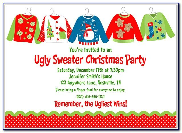 Ugly Sweater Party Invitation Template Free Word