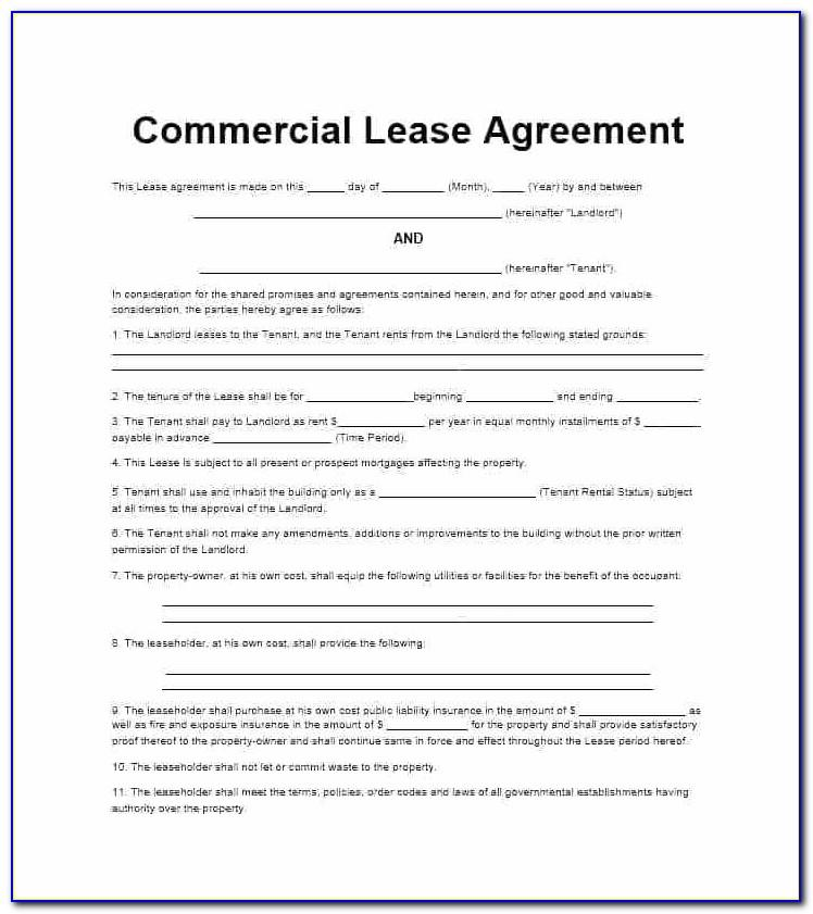 Uk Commercial Lease Agreement Template