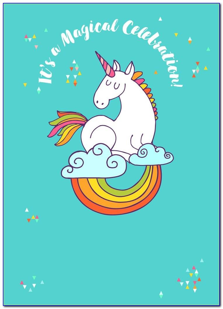 Unicorn Birthday Invite Free