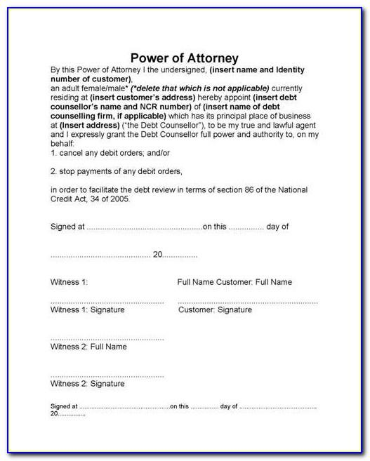 Us Bank Power Of Attorney Form