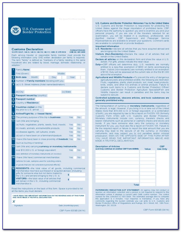 Us Customs Power Of Attorney Sample