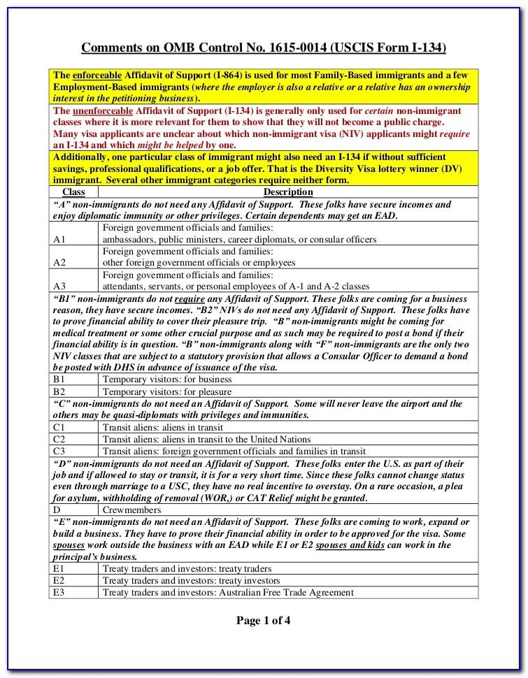 Uscis Form For Affidavit Of Support