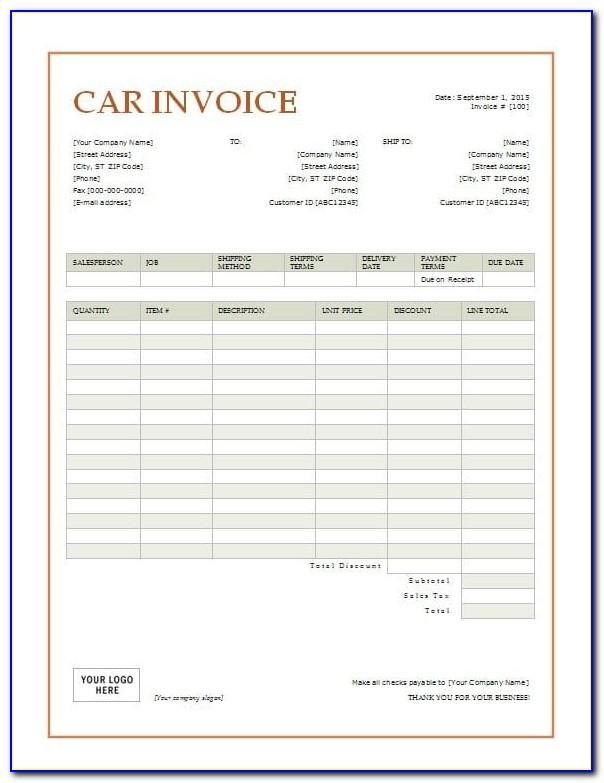 Used Car Purchase And Sale Agreement Form
